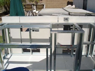 Building with Metal Studs Outdoor Kitchen Steel Stud Construction Allows for More Space Me