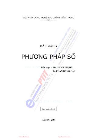 BCVT.Bài Giảng Phương Pháp Số - Ths.Phan Thị Hà, 122 Trang.pdf