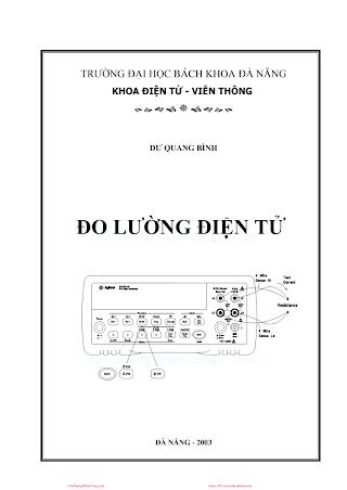 ĐHĐN.Đo Lường Điện Tử (NXB Đà Nẵng 2003) - Ths.Dư Quang Bình, 143 Trang.pdf