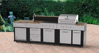 Master Forge Modular Outdoor Kitchen 3burner Gas Grill At