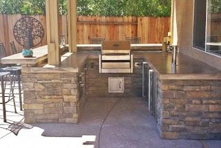 Outdoor Kitchen Kegerator Custom Seating Bar Custom Image