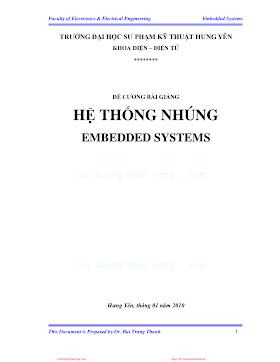 Đề Cương Bài Giảng Hệ Thống Nhúng - Bùi Trung Thành, 119 Trang.pdf