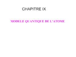 CHAPITRE IX cours chimie.ppt