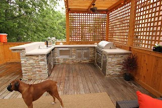 Outdoor Kitchen Chicago and Deck Contemporary Exterior By