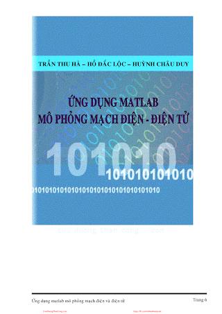 Ứng Dụng Matlab Mô Phong Mạch Điện Điện Tử - Trần Thu Hà & Hồ Đắc Lộc, 110 Trang.pdf