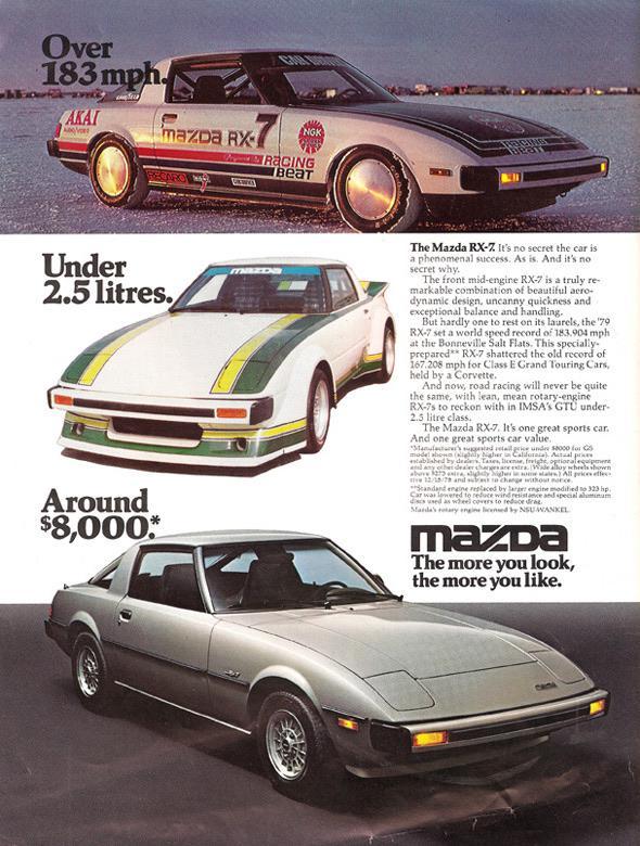 Vintage Mazda RX7 Advertisement
