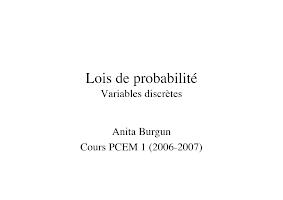 Lois De Probabilité Variables Discrètes.pdf