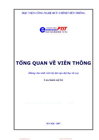 BCVT.Tổng Quan Về Viễn Thông - Ths. Nguyễn Văn Đát & Ths. Nguyễn Thị Thu Hằng, 156 Trang.pdf
