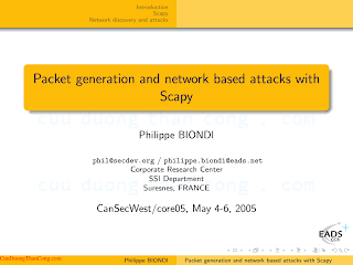 Packet generation and network based attacks with Scapy.pdf