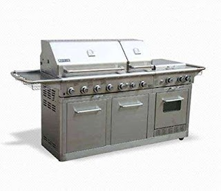 Outdoor Kitchen Gas Oven Amazoncom Jenn Air Deluxe Grill Stainless