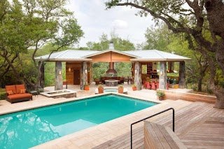 Pool House Designs with Outdoor Kitchen Plans Neilmclean Info
