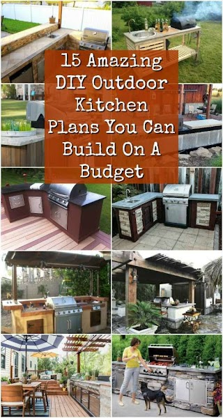 Diy Outdoor Kitchen Plans 15 Amazing You Can Build on a Budget