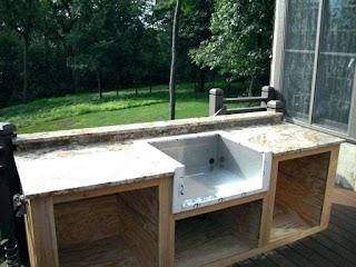 Outdoor Kitchen Plumbing Grill with Sink Propiratovinfo