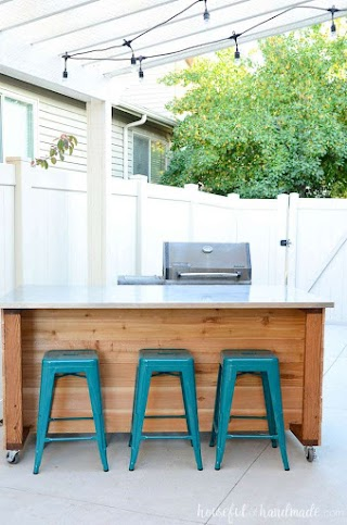 Outdoor Kitchen Island Plans Free Build Houseful of Handmade