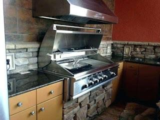 Outdoor Kitchen Exhaust Hoods Vent Hood Stove White Island Fan Height