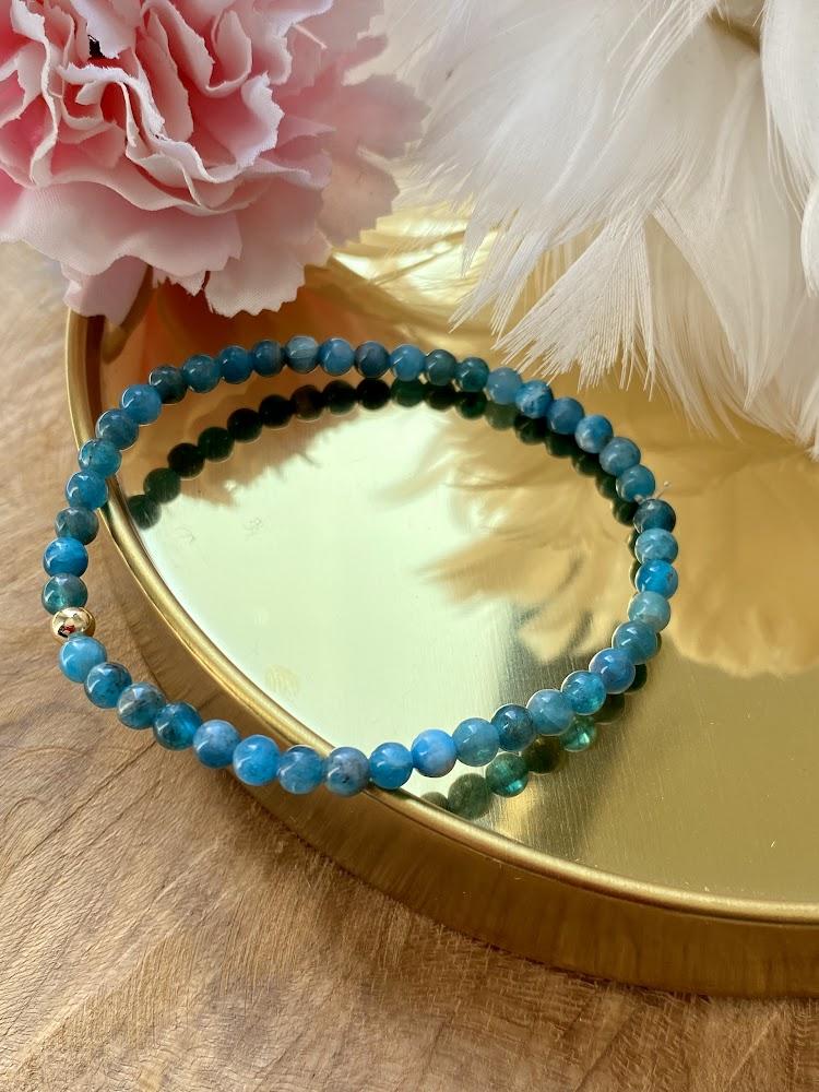 Bracelet Minimaliste en Apatite