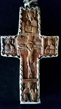 Cruce din lemn sculptat Athos - 25 - poza 3 - Galeria Anton
