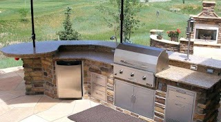 Prefabricated Outdoor Kitchen Islands Prefab Grill Astounding Outside