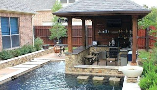 Average Cost of Outdoor Kitchen Small S Pool Bar