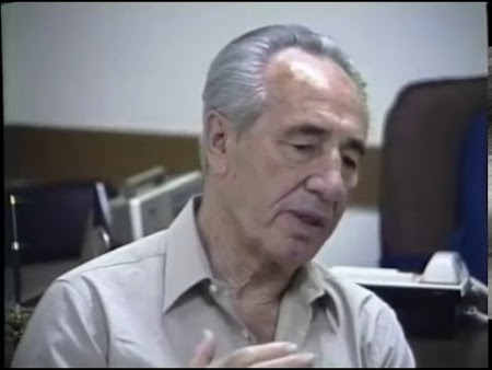 Shimon Peres in Israel About Russian Jews (Original Airdate 7/14/1991)