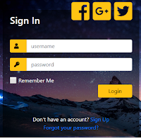 Login Page Form Template Download