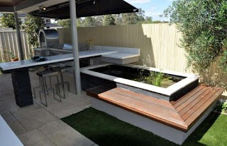 Australian Outdoor Kitchens Polished Concrete Benchtops