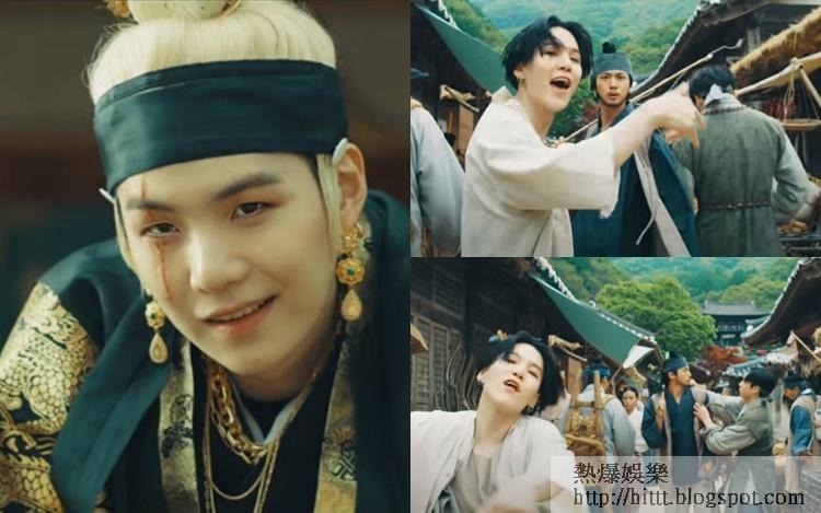 Suga大王造型好霸氣,大哥Jin做路人太搶鏡,跟老么柾國打起來。