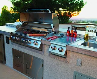 Outdoor Kitchen Components Grill Covers Refrigerator Sinks