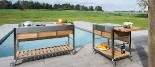 Outdoor Cooking Kitchens Indu Mobile Trolleys for with Induction Technology