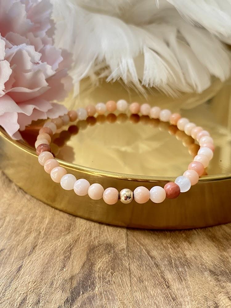 "Bracelet ""Minimaliste"" en Aventurine-Rose"