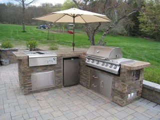Outdoor Kitchens and Grills Artistic Design Nyc Fireplaces Installations