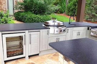 Outdoor Kitchen Modular Frame Kits Grill Portable Sink Undermount Stainless