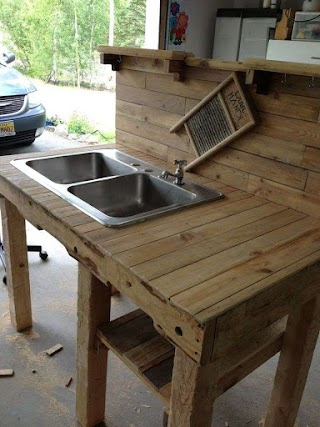 Outdoor Kitchen Sink Ideas Area for Camp Google Search Everything Pallets