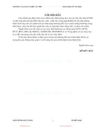 Giáo Trình Sửa Chữa Điện Thoại Di Động - Đỗ Hữu Hậu, 63 Trang.pdf