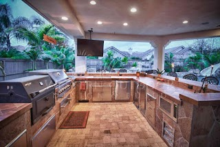 Outdoor Kitchen Island Covers S Gallery Western Design and Build Serving