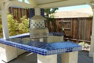 Outdoor Kitchen Tile Cobalt Blue Cobalt Blue Mexican Talavera on A