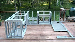 Building Plans Outdoor Kitchen an on a Deck DIY on Deck