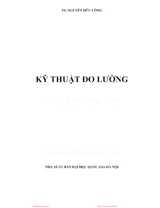 Kỹ Thuật Đo Lường - Ts.Nguyễn Hữu Công, 174 Trang.pdf