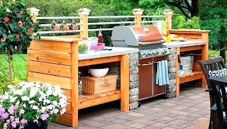 Outdoor Kitchens DIY and Grilling Stations Style Motivation