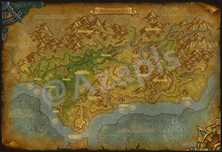 Mapa Andalucía WoW