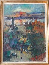 "Tablou ""Peisaj"", R. (Rosenblut Raoul) Iosif"