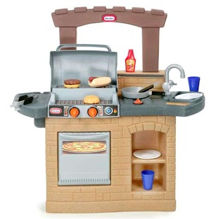 Little Tikes Indoor Outdoor Cook N Grill Kitchen Play Bbq