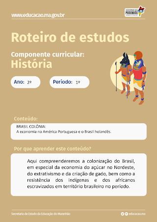 A ECONOMIA NA AMÉRICA PORTUGUESA E O BRASIL HOLANDÊS