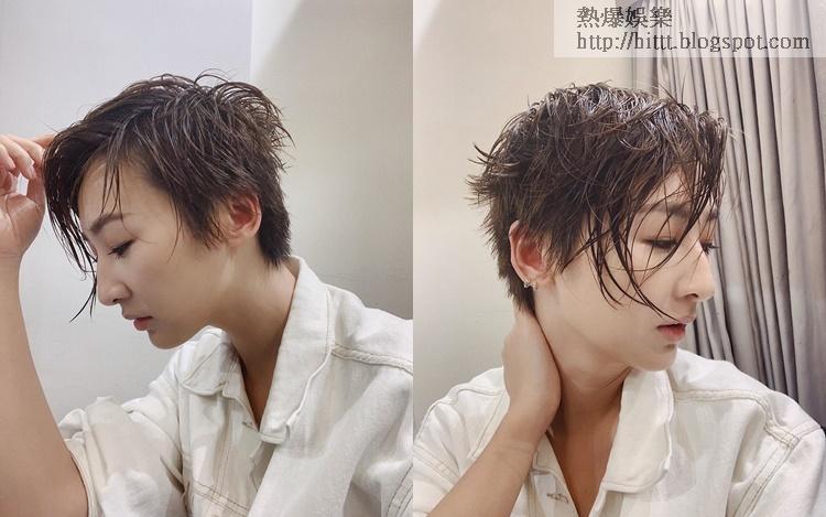 高海寧濕短髮被讚性感。