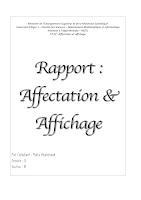 RAPPORT 1 Affectation et affichage MI Alger.pdf