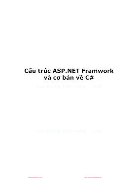 Cấu trúc ASP NET Framework và cơ bản về C#.pdf