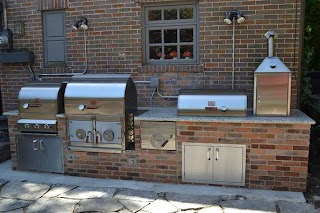 Built in Smoker Outdoor Kitchen S Pitts and Spitts S and Grills