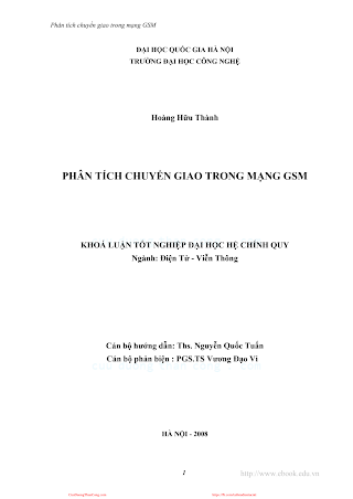 ĐHQG.Phân Tích Chuyển Giao Trong Mạch GSM - Hoàng Hữu Thành, 117 Trang.pdf