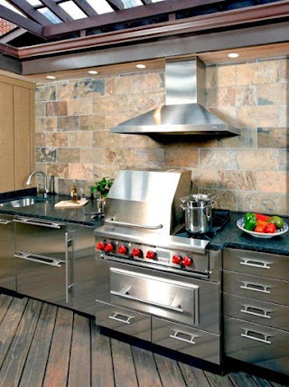 Outdoor Kitchen Stainless Steel 10 S that Sizzle Hgtv