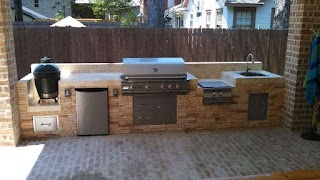 Side Burners for Outdoor Kitchens This Kitchen By Homescapes of Houston Features From